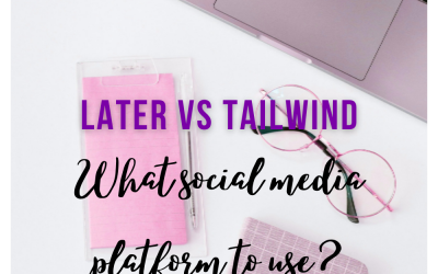What social media platform to use? Later VS Tailwind