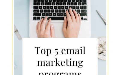 Top 5 email marketing programs